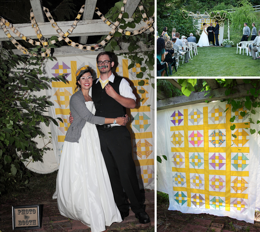 inspirational photo booths and backdrops quilts