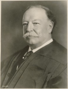 President William Howard Taft may not have known it, but when he left office in March 2013, he took the presidential mustache with him.